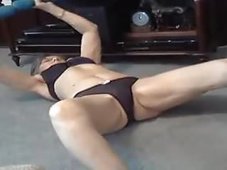 Woman sex after 60 Grandma fingering after workout