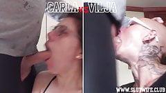 Compétition face à face: carla vs vilja se fait défoncer la gorge