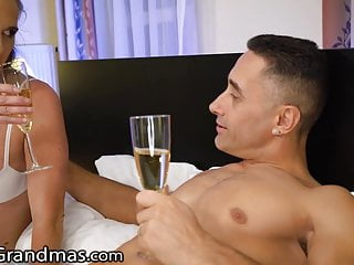Card electronic gay greeting - Lustygrandmas gilf greets stud in his bedroom