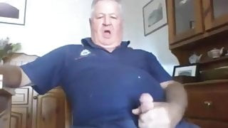 Mature Guy Jerks At Home and Cums