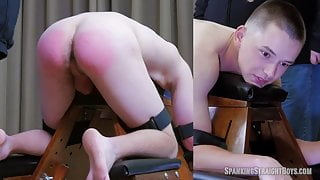 Teen Boy Strapped to Spanking Bench and Spanked