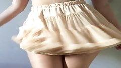 American Apparel Cream Petticoat Tutu Skirt