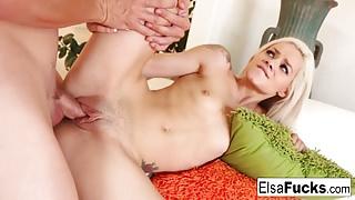 Elsa Jean before getting fucked