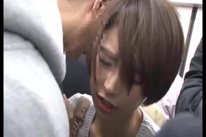 Japanese girl getting groped