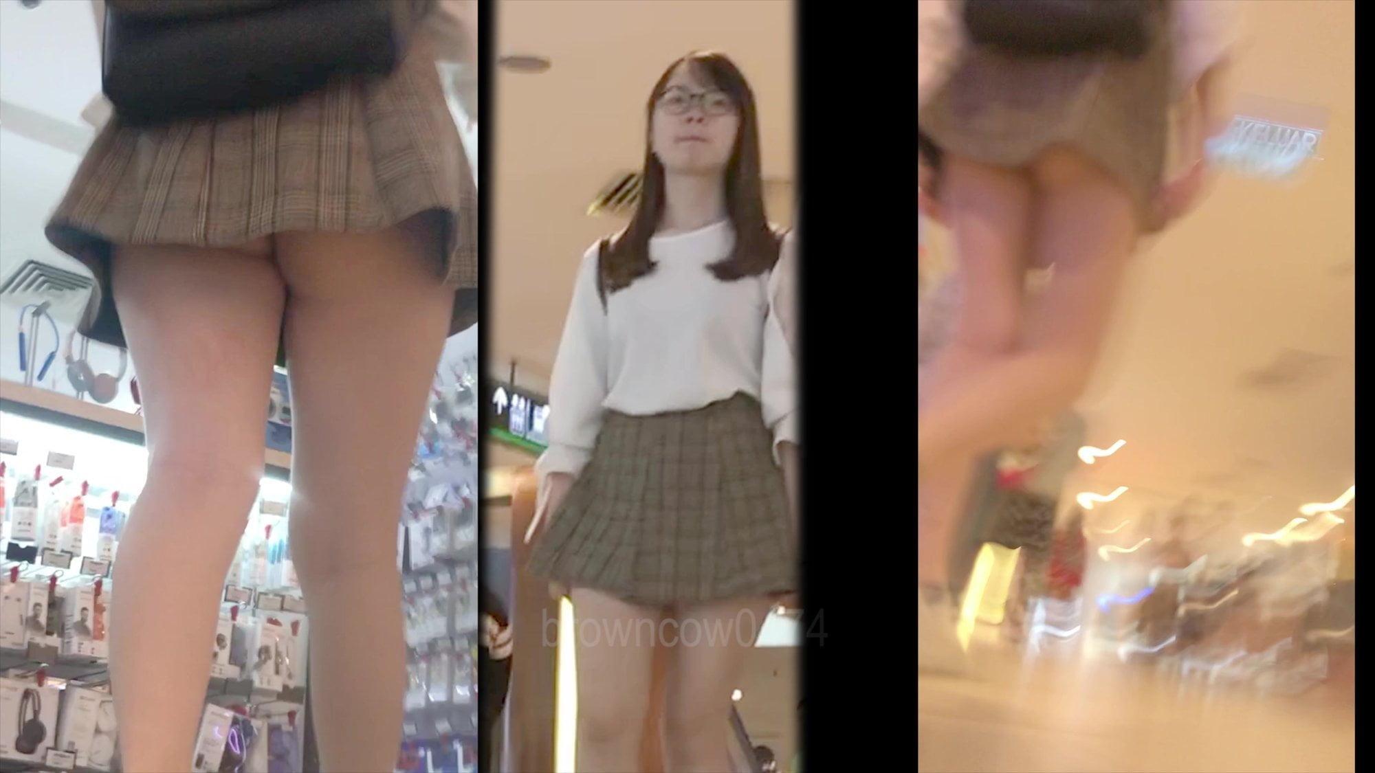 porn Asian mini skirt