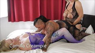 Camilla, Cheyenne and Mackenzie Strap-on Threesome Promo