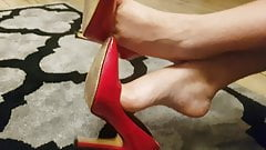 Red shoes and smoking