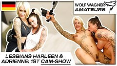 Harleen & Adrienne: Filthy lesbo fun with toys! WOLF WAGNER