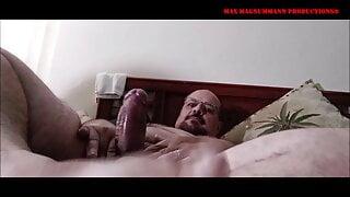 Max Super Thick Mega Pole Shoots in Bed HD
