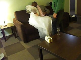 Lesbian brides kissing - Bride kisses her bull