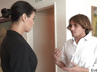 Hair hardcore style Dark haired stepmom gets fucked by young stepson