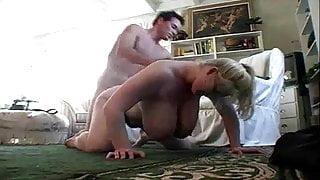 Big Boob BBW Lays Down To Seduce Her Man
