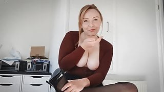 Slut English Teacher Wants Your Young Cock - Shannon Heels