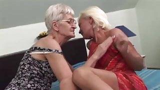 Lesbian grannies having fun