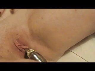 Large clit panties Large flaps, dildo in deep. close-up clit shot to finish