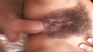 Beautiful Latina fucked in her hairy pussy