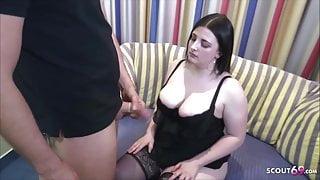 German 18yr young bbw College Teen Elisa at Porn Casting