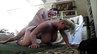 Blonde BBW Babe Blows And Fucks the Cock To Make Cum