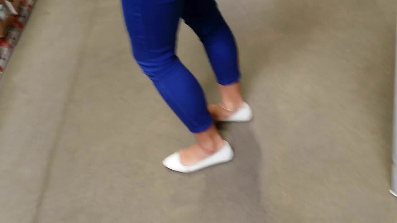 Candid Asian In White Ballet Flats, Anklet