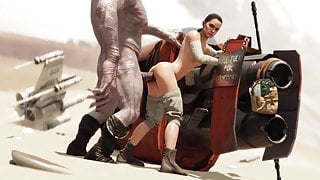 Rey fuck monster cock - 3D animation