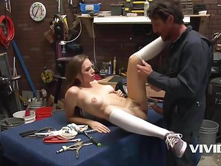 Horny stepdad forces daughter porn Horny mechanic stepdad fucks his little bitch on the desk