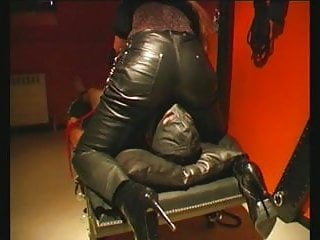 Leather pants milf Facesitting in leather pants