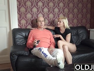Tight pussy getting fuck - Young girl seduces old man she gets fucked sweet tight pussy