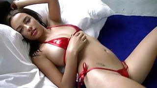Sabrina - Red Latex Bikini
