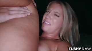 TUSHYRAW, Curvaceous Candice gets her asshole stretched out