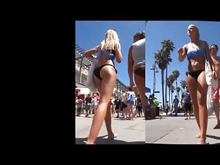 Bikini bottom walkthrough xbox Candid tanned blonde in black bikini bottoms walking