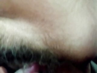 Creampie cunt closeup - Wifes beautiful hairy cunt in closeup view