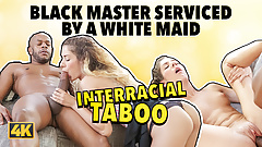 Black4k. Das dünne Schätzchen Monique Woods verführt den Schwarzen