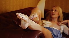 Sexiest feet.  Classiest lady.  Purest erotica.