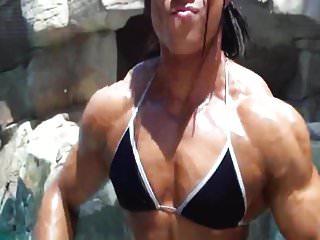 Male physique hairy - Karen garrett showing off her beautiful muscular physique