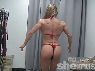 Beautiful sexy woman on woman Muscular beauty maria g looking sexy
