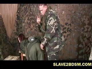 Cougar recruits redhead Bdsm on female army recruit