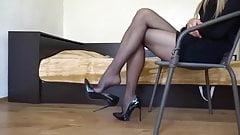 Dangling Black Pantyhose