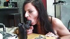 Nylon Slave Girl get punished of the master