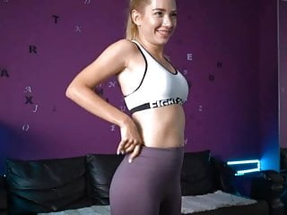 To small to fit pussy Slim fit blond small pert tits big round firm ass butt