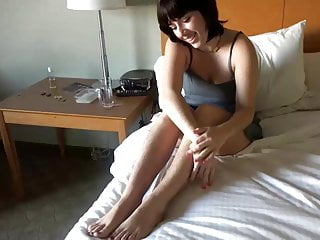 Pussy pit Brunette round ass shows us her amazing hairy pussy,pits