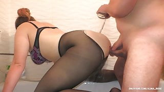 Shower Sex in Pantyhose