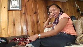 lady footjob ebony