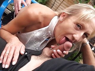 Flat boob Flat titted skinny mature needs 2 cocks for ultimate fun