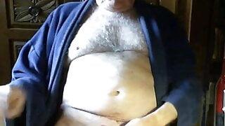 Grandpa stroke and cum with hot man