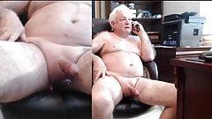 Handsome Grandpa ass play