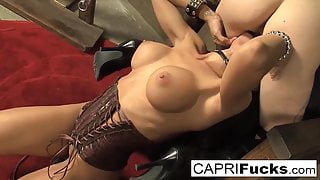 Cadence St. John Joins Capri As They Play In A Dark Dungeon