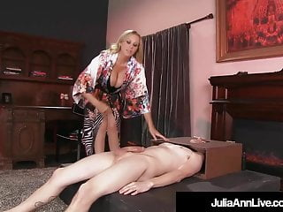 Kerrie ann busty Boy toy gets moterboated by busty milf julia anns pussy