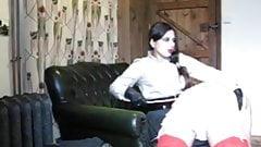 Another Beautiful Mistres OTK caning her sissy-maid