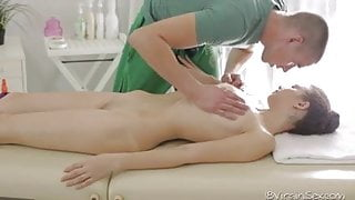 Nastya gets a massage and some good fuck