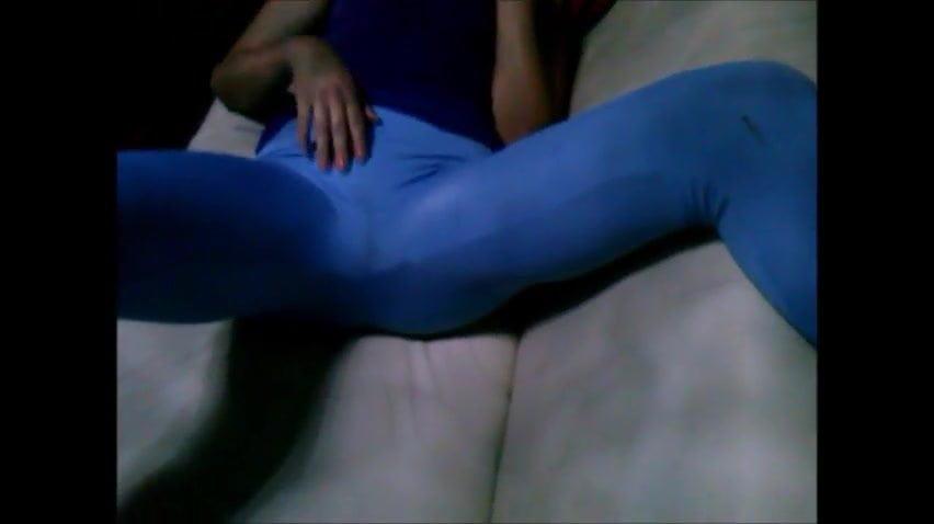 sexy girl masterbating in leggings
